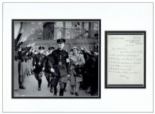 Sir Oswald Mosley Autograph Signed Letter Display